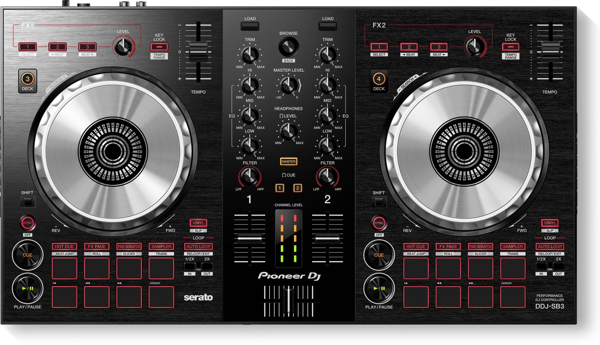Pioneer DJ DDJ-SB3 Compact SERATO DJ CONTROLLER - 2 Channel
