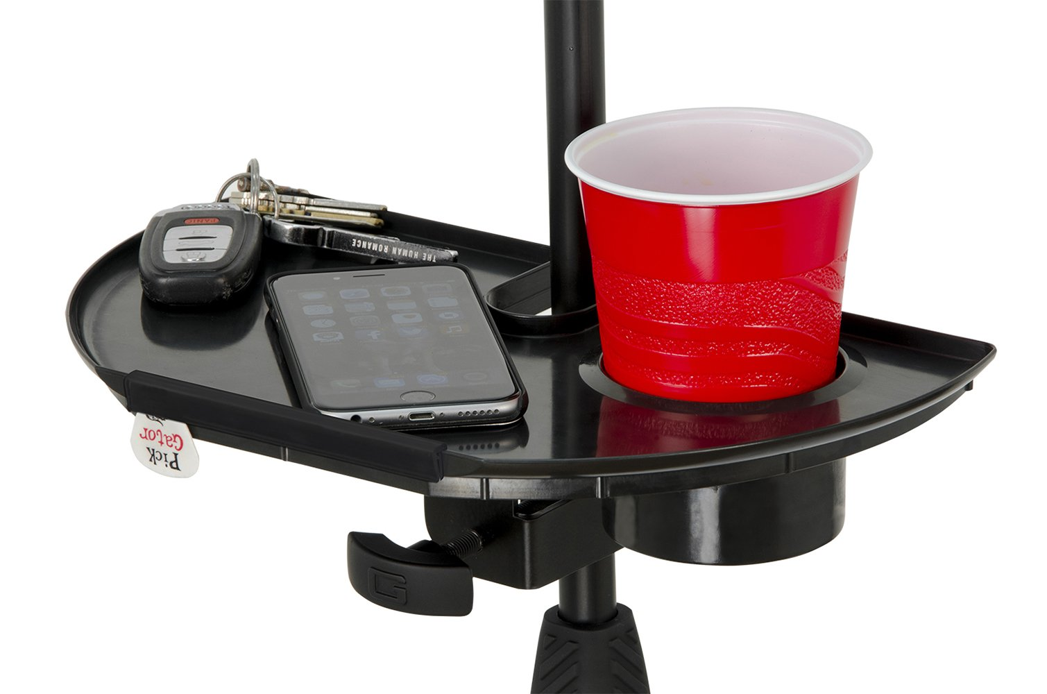 Gator Mic Stand Accessory Tray with Drink Holder