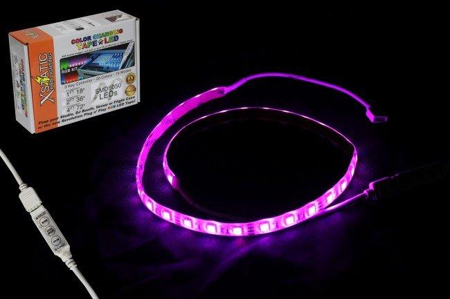 Xstatic RGB 48 LED Strip Kit W/Remote Control & Power Supply