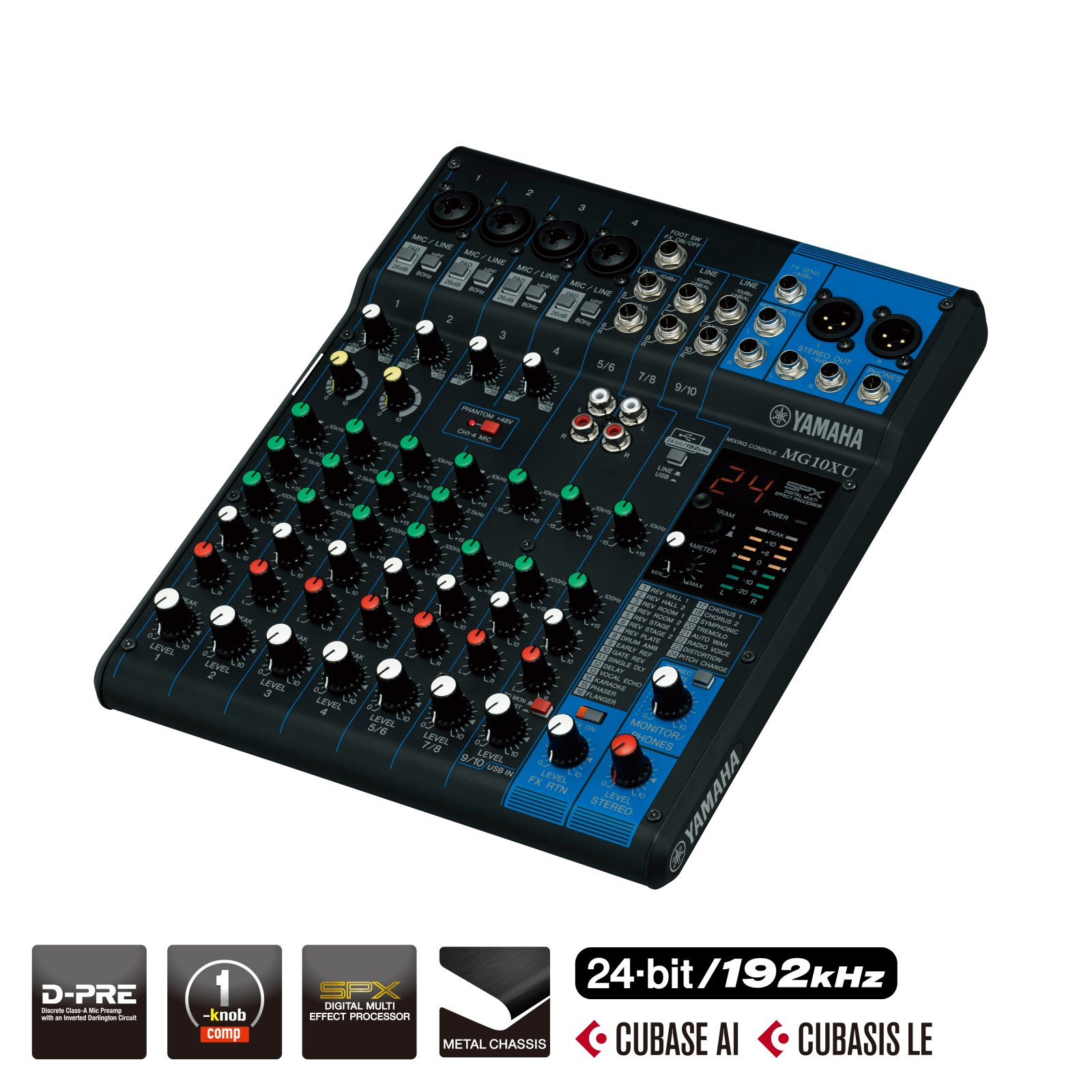 Yamaha MG10XU 10-Input Mixer with Built-In FX & 2-In/2-Out USB Interface