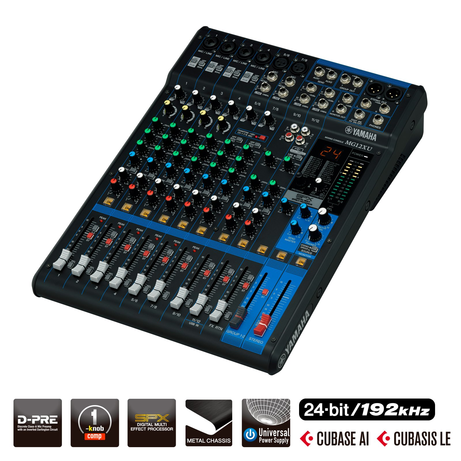 Yamaha MG12XU 12-Input Mixer with Built-In FX & 2-In/2-Out USB Interface