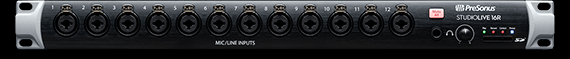 StudioLive 16R: 18-input, 16-channel Series III stage box and rack mixer