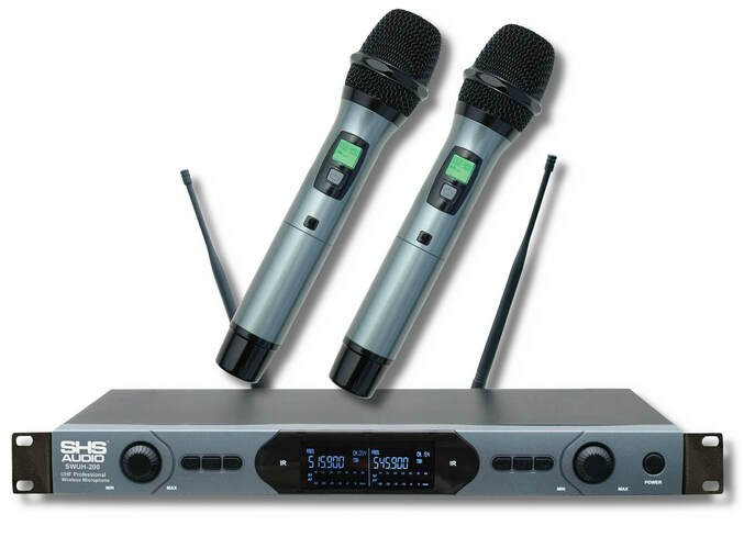 SHS Audio SWUH-200 Dual Handheld Wireless Mic System