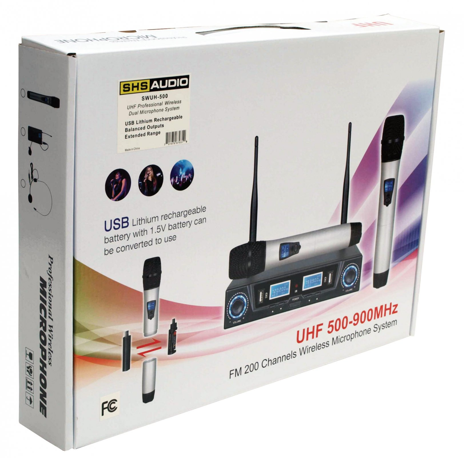 SHS Audio SWUH-500 Dual Wireless Microphone System