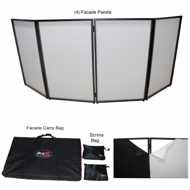 ProX Direct XF-4X3048B MK2 Four Panel ProX DJ Facade
