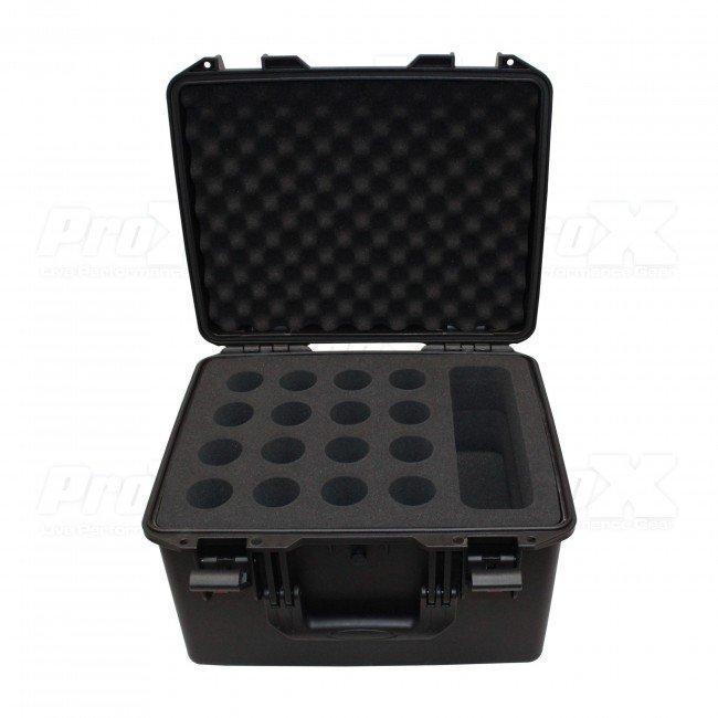 VaultX Watertight Microphone Case (Holds 16 Handheld Units)