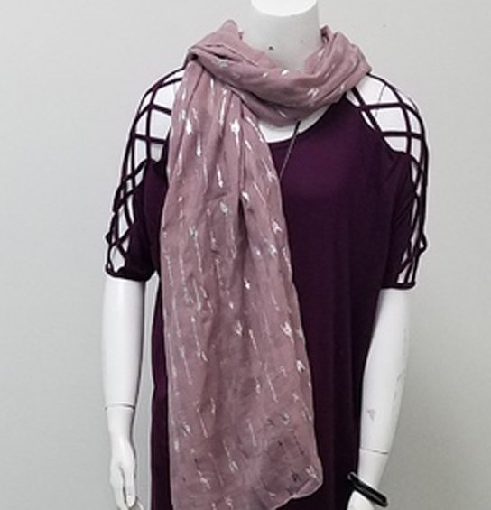 PLUM ARROW SCARF