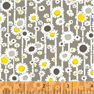 Windham Fabrics MOJITO BAMBOO DAISIES (mist) by Another Point of View