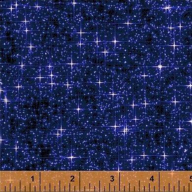 Interstellar STARS (navy) Windham Fabrics
