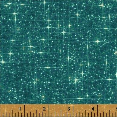Interstellar STARS (teal) Windham Fabrics