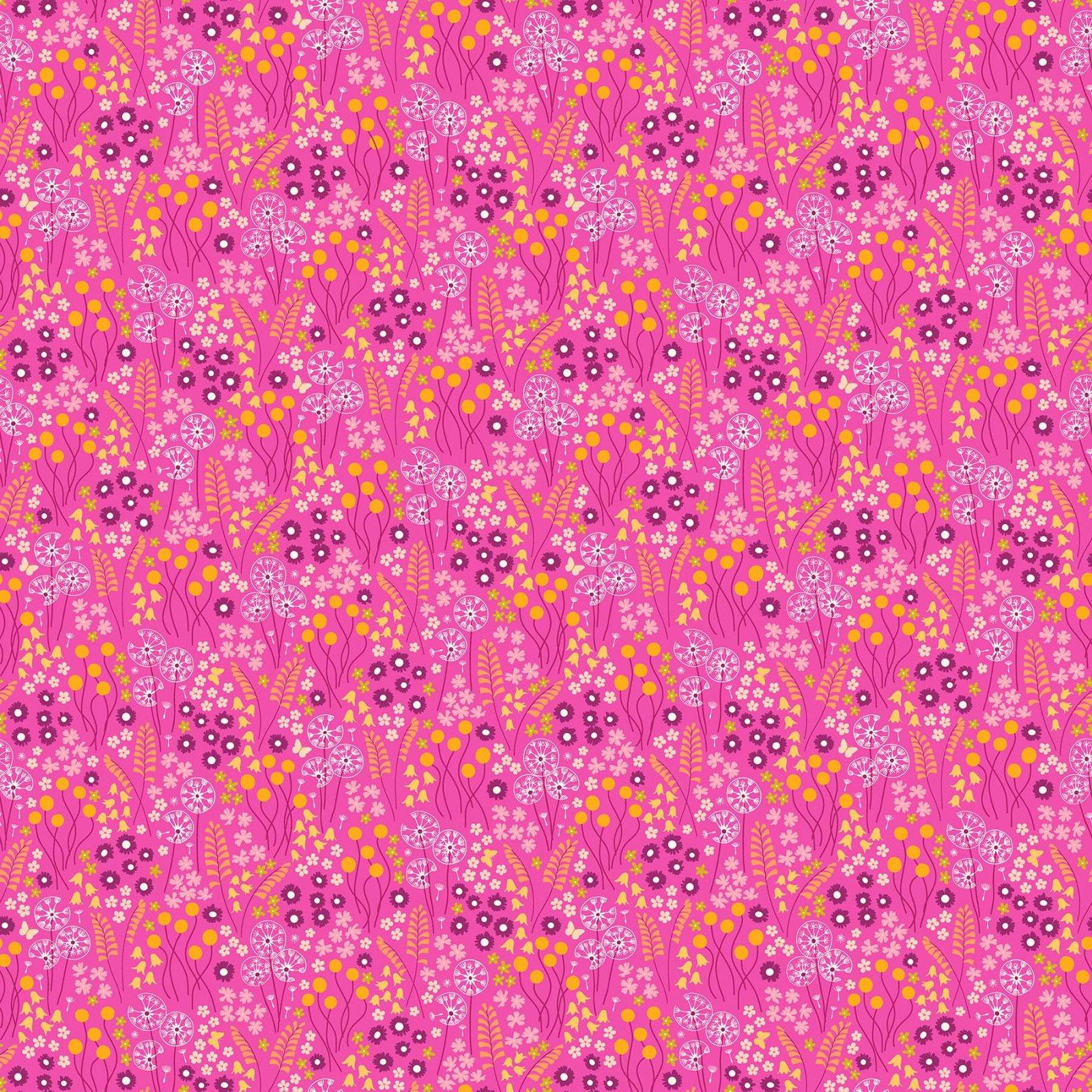 FIGO Fabrics Mountain Meadow MEADOW DRIFT (Pink)