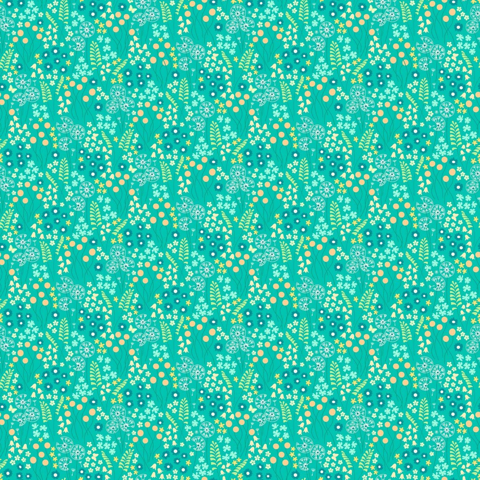 FIGO Fabrics Mountain Meadow MEADOW DRIFT (Turquoise)