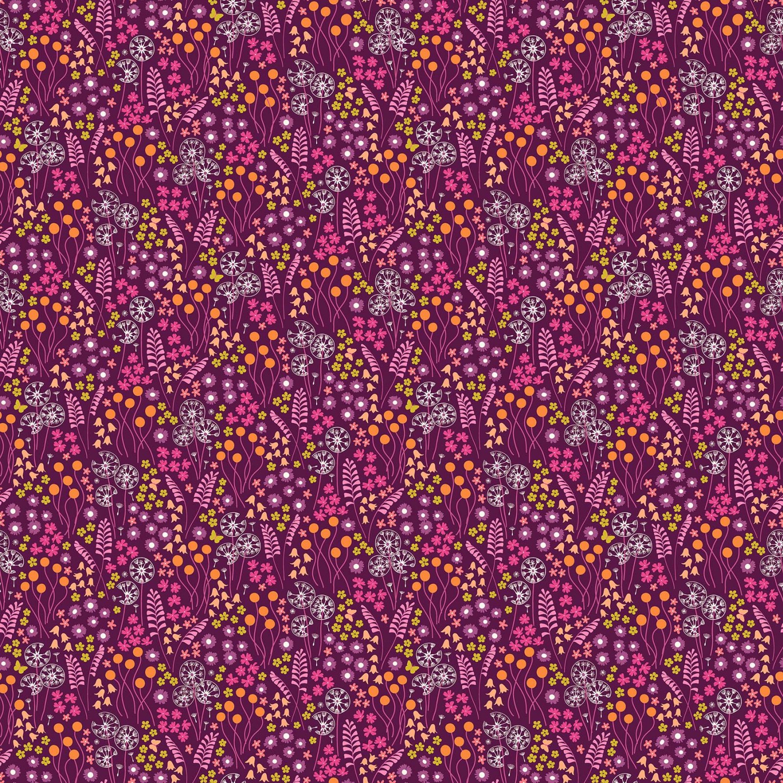 FIGO Fabrics Mountain Meadow MEADOW DRIFT (Purple)