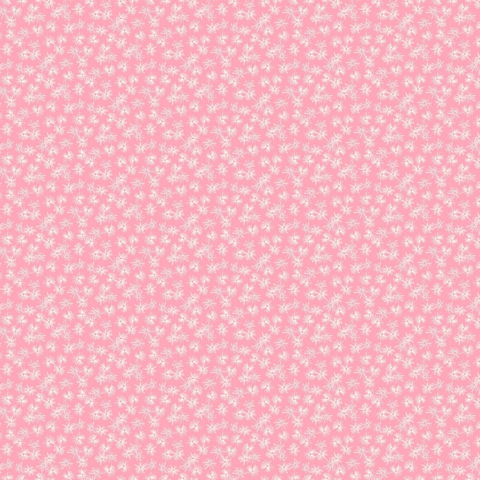FIGO Fabrics Mountain Meadow STAR FLOWERS (Pink)