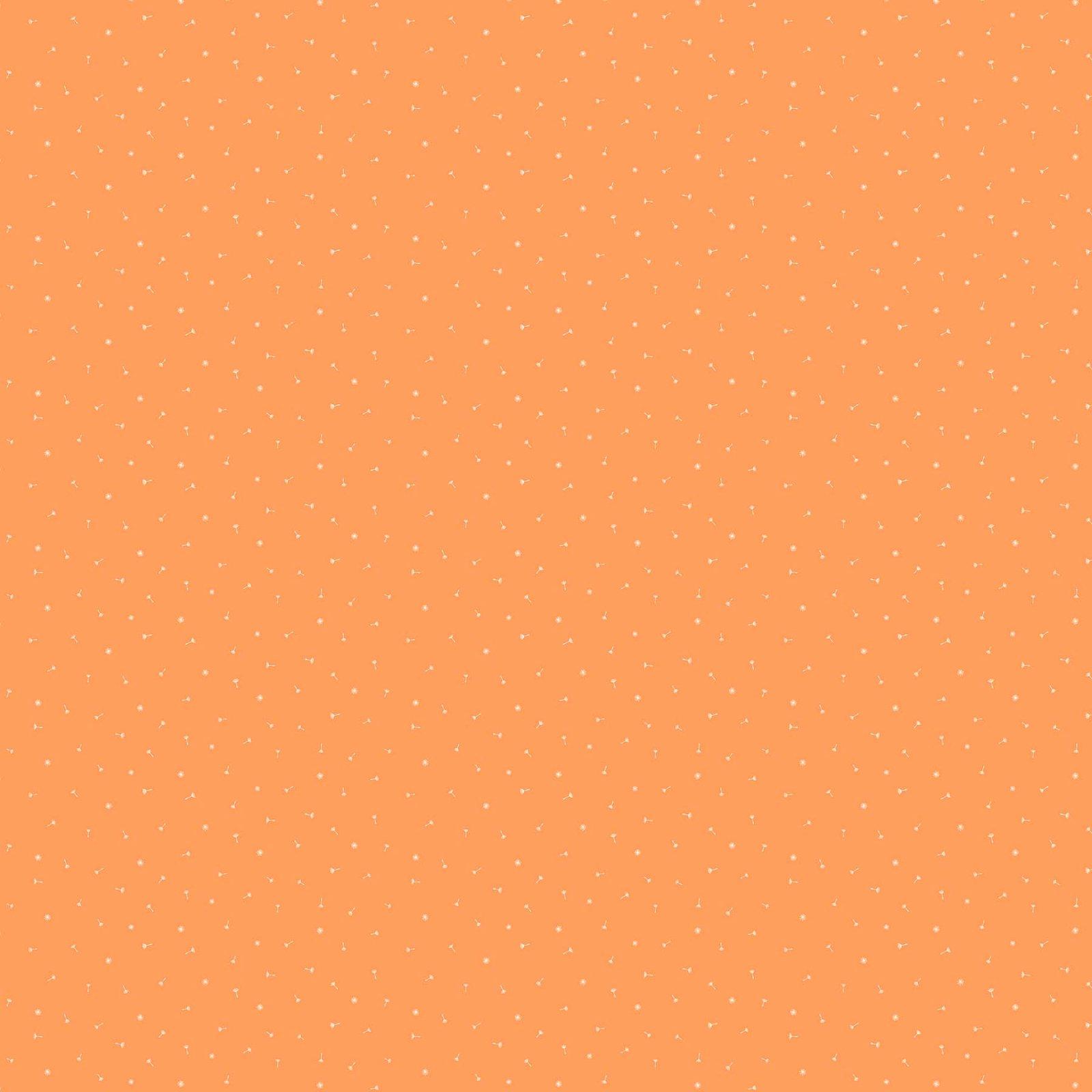 FIGO Fabrics Mountain Meadow DANDELION HEADS (Orange)