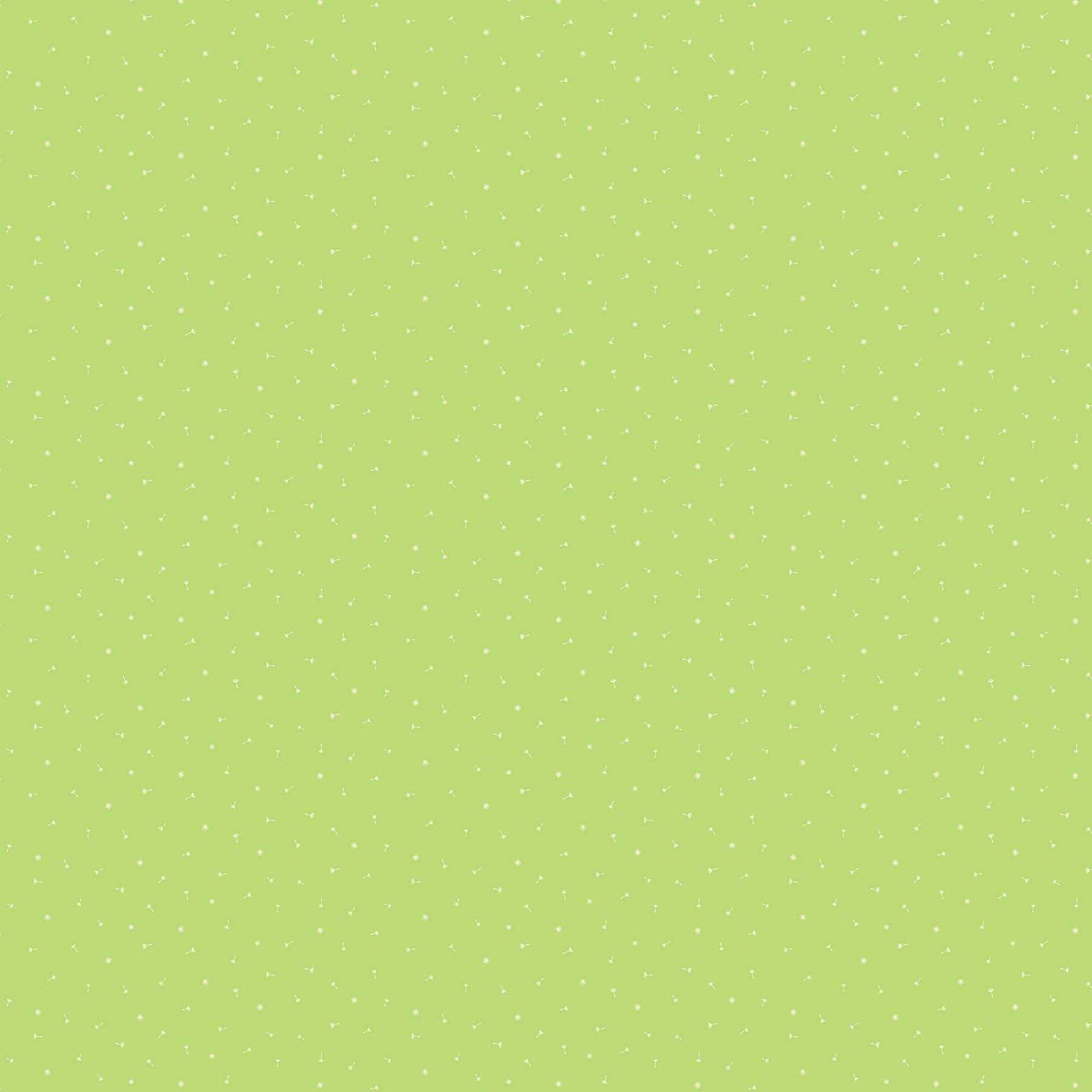 FIGO Fabrics Mountain Meadow DANDELION HEADS (Lime)