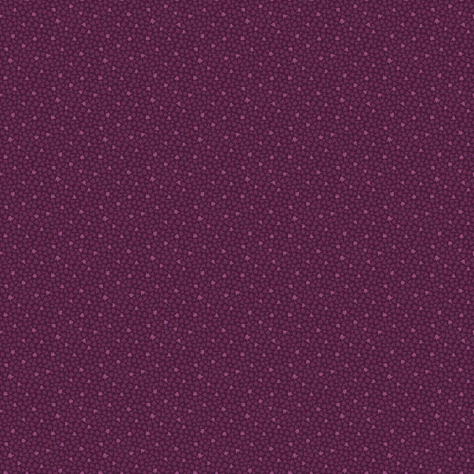 FIGO Fabrics Mountain Meadow BELL FLOWER (purple) by Pippa Shaw