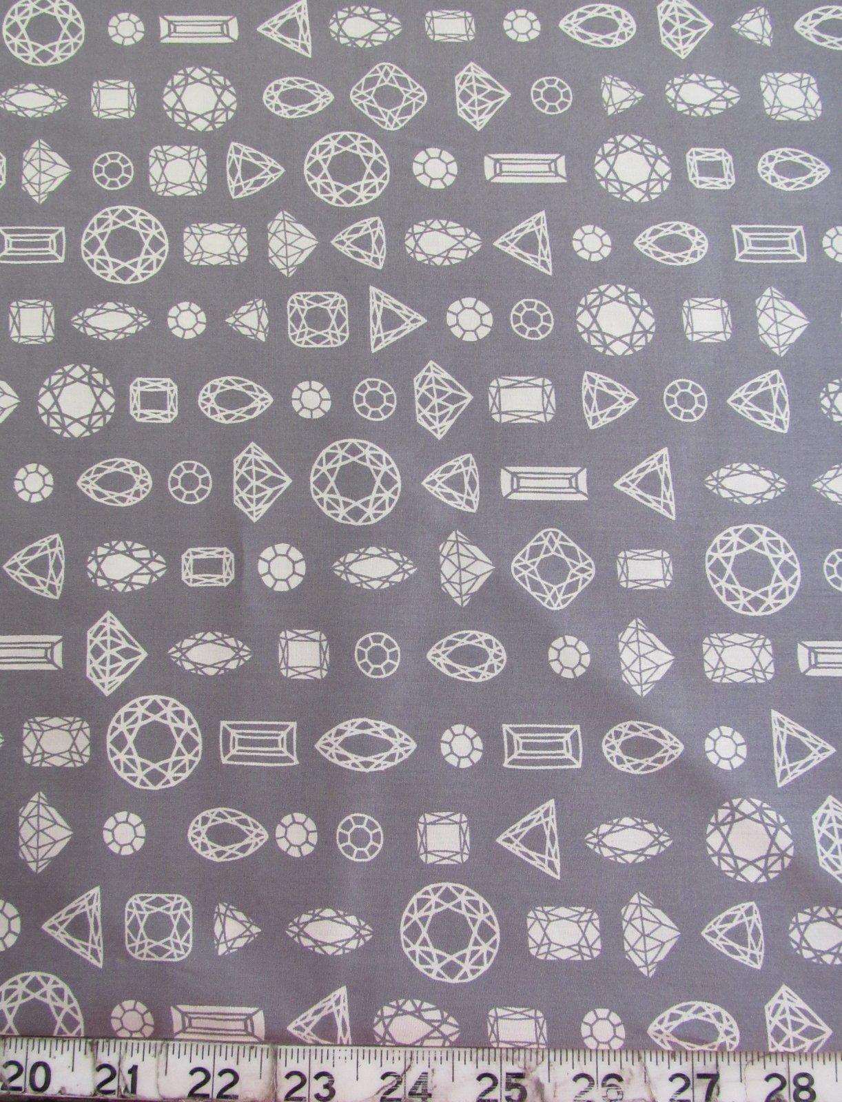 Cotton & Steel COTTON LAWN Moonlit Gems Grey by Rashida Coleman-Hale