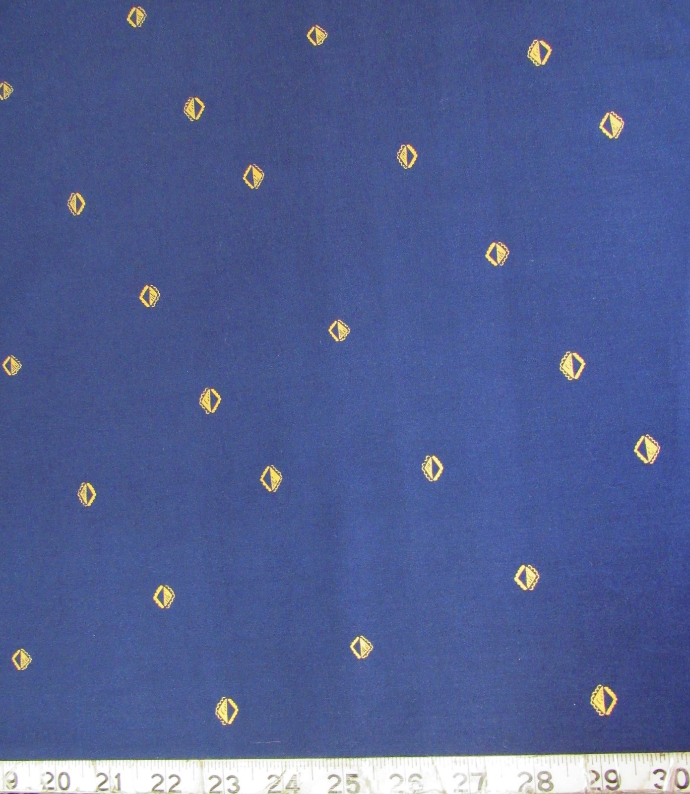 Cotton & Steel SUNRISE INDIGO METALLIC GOLD by Alexia Abegg