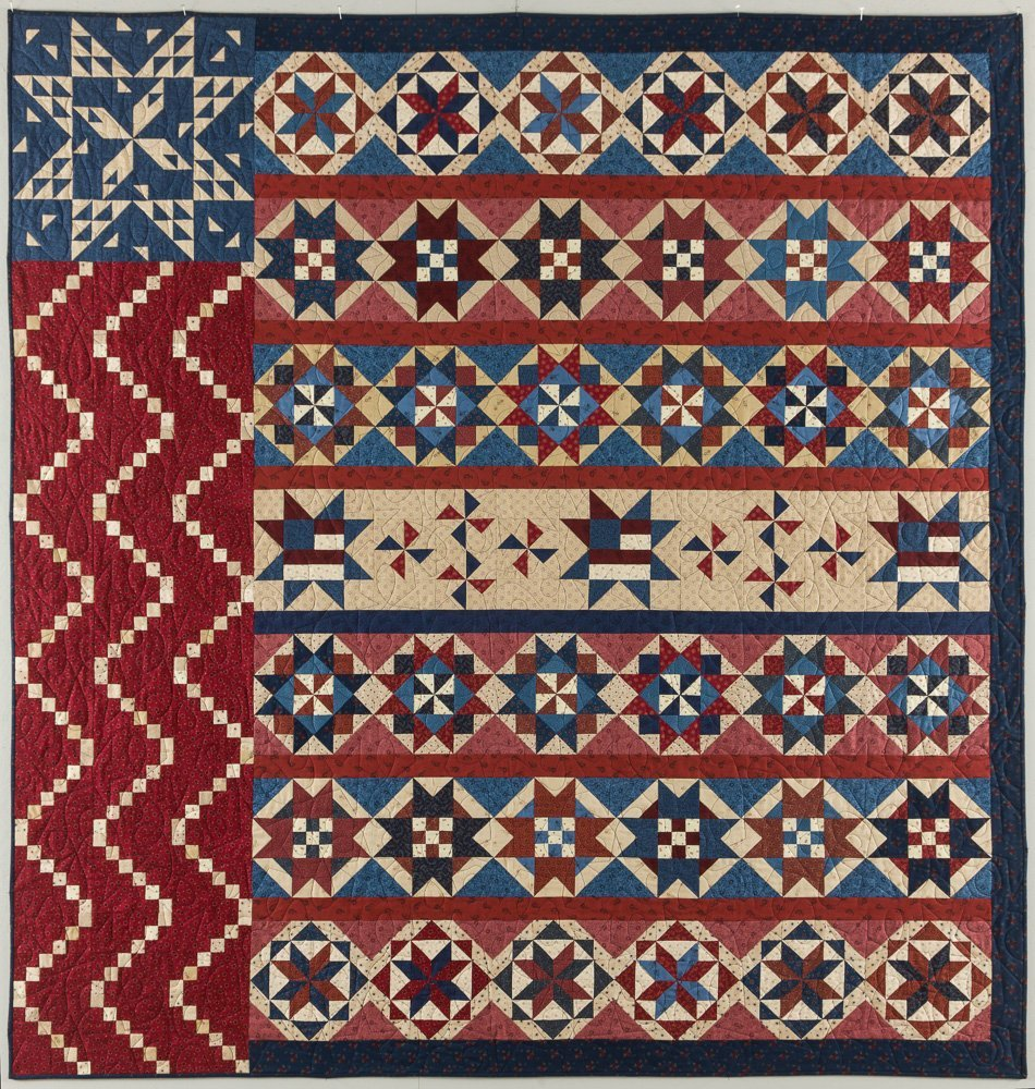 STAR SPANGLED LIBERTY QUILT KIT by Pam Buda (backing not included)