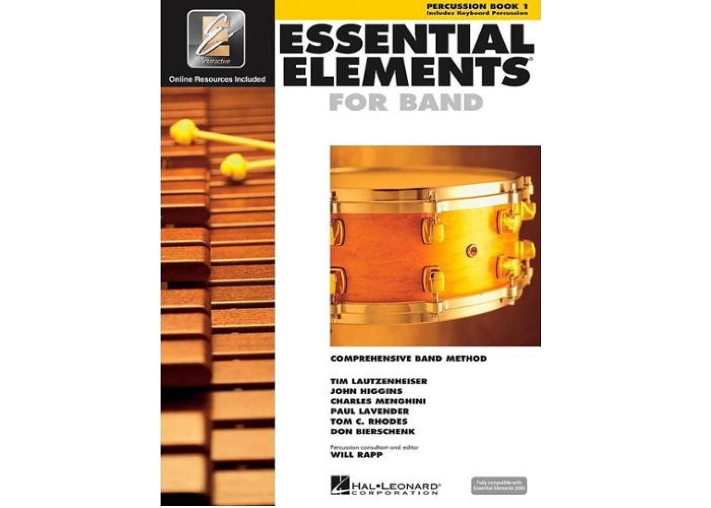 Essential Elements For Band - Percussion Book 1 (Book/CD-ROM)