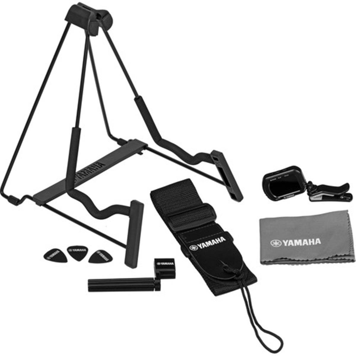 Yamaha Guitar Accessories Pack - Stand/Tuner/Strap/Picks & More