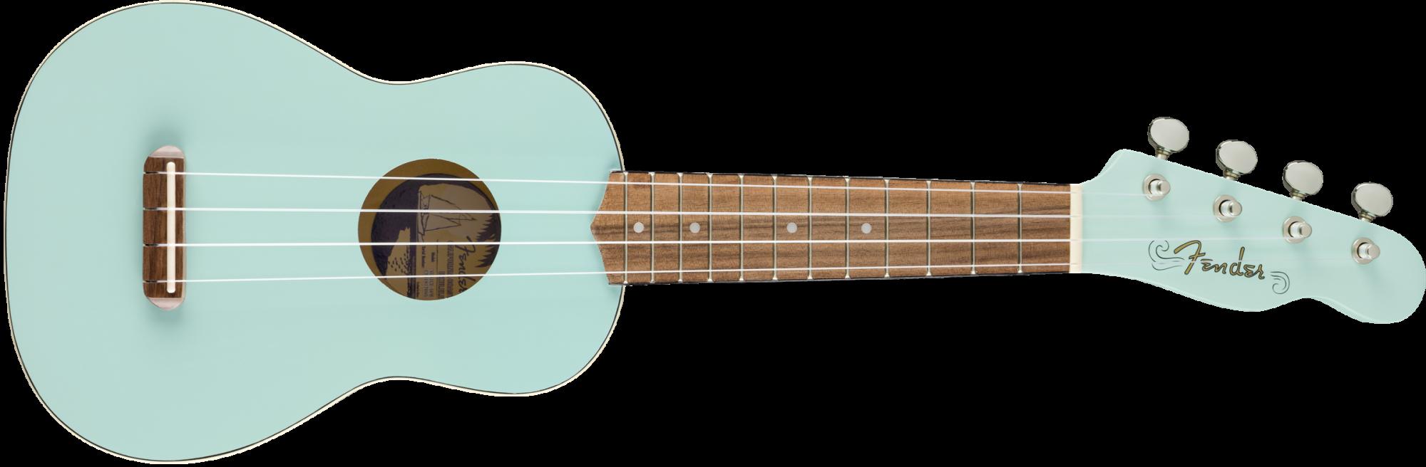 Fender Venice Soprano Ukulele, Walnut Fingerboard, Daphne Blue