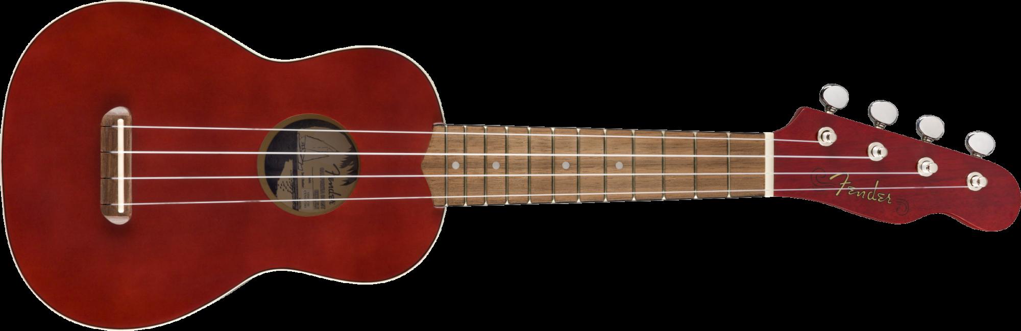 Fender Venice Soprano Ukulele Uke -Cherry