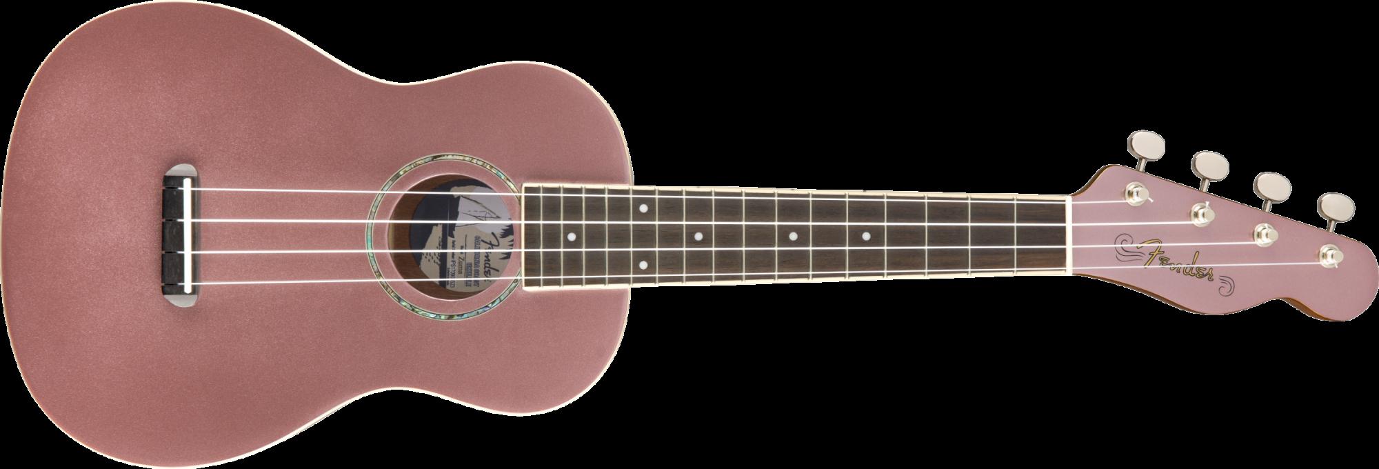 Fender Zuma Classic Concert Uke, Walnut Fingerboard, Burgundy Mist