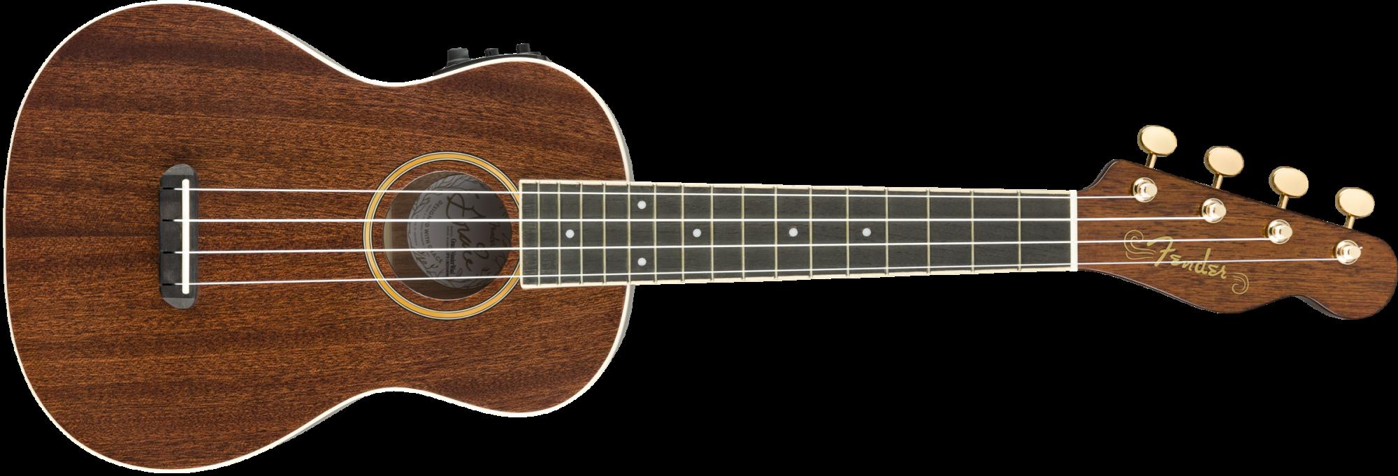Fender Grace Vanderwaal Concert Acoustic Electric Ukulele W/Gigbag