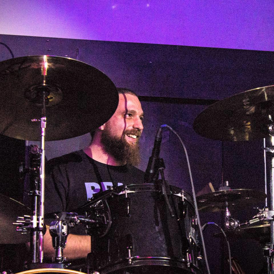 Matt Lagrange on the drums