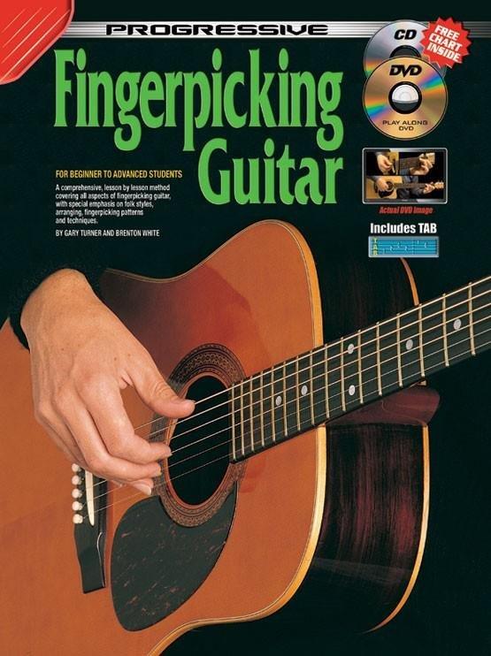Progressive Fingerpicking Guitar - Beginner to Intermediate w/Free Online Video/Audio
