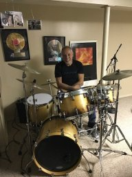 Mark Galeo on the drums