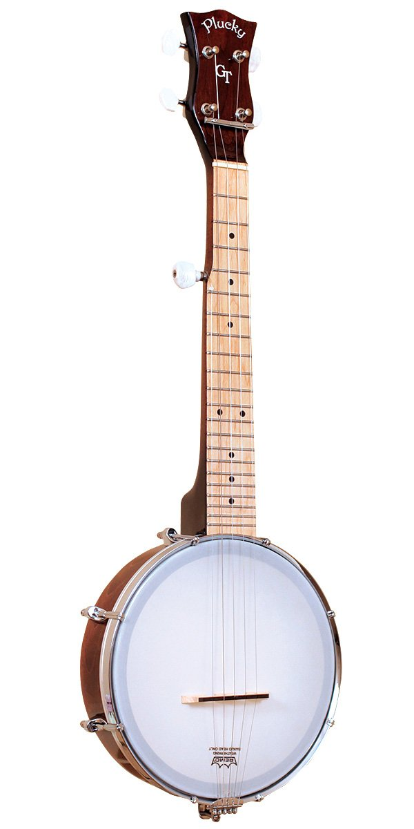 Gold Tone Plucky Banjo (Five String, Vintage Brown) W/ Gigbag