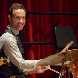 Dr. Graeme Francis on the drums