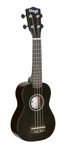 Stagg Soprano Ukulele with w/Nylon Gig Bag - Black