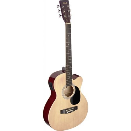 Stagg Auditorium Cutaway Acoustic-Electric Guitar - Natural