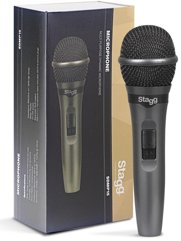 Stagg Sdmp15 Cardioid Dynamic Microphone W/ Xlr Cable