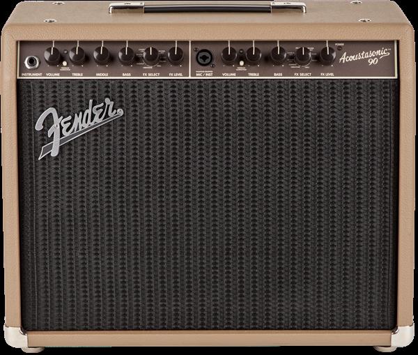 Fender Acoustasonic 90 1x8 90w Acoustic Guitar Combo Amplifier, Brown