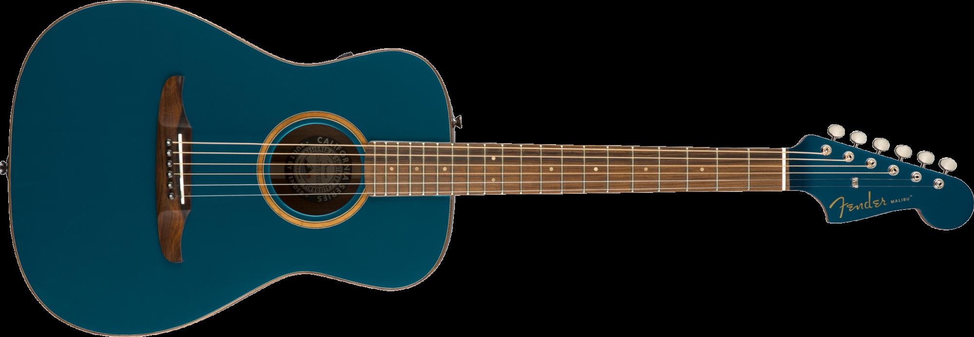 Fender Malibu Classic Acoustic/Electric Guitar - Cosmic Turquoise w/Bag