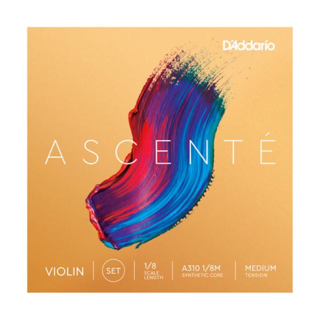 D'addario A310 1/8M Ascente Violin String Set, 1/8 Scale, Medium Tension
