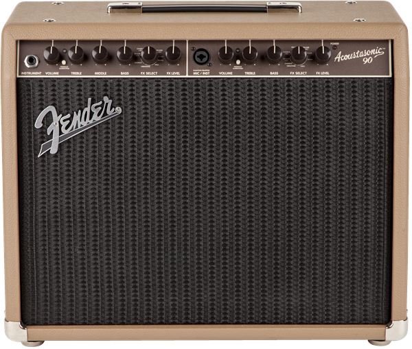 Fender Acoustasonic 90 1x8 90w Acoustic Guitar Combo Amplifier, Brown