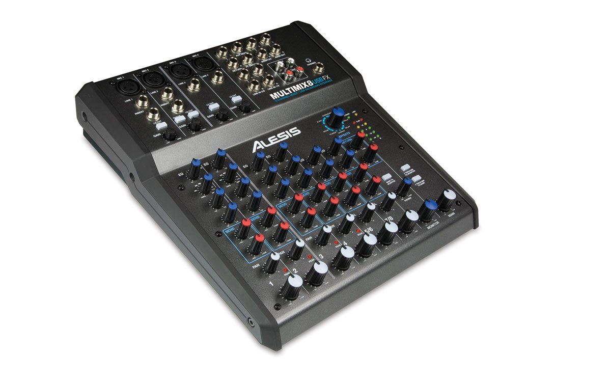 Alesis 8-Channel Mixer With Effects/USB Audio Interface