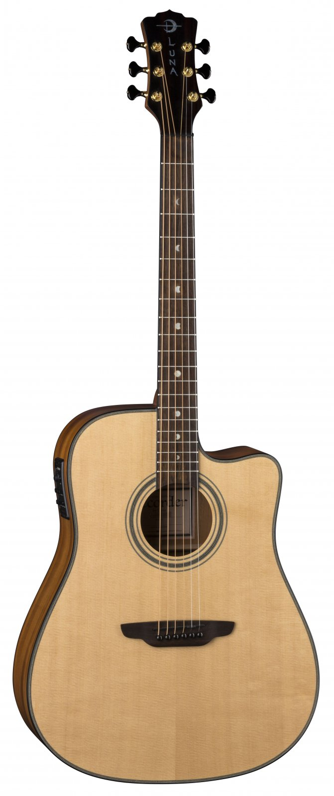 Luna Art Recorder All Solid Wood Dreadnaught Acoustic Guitar
