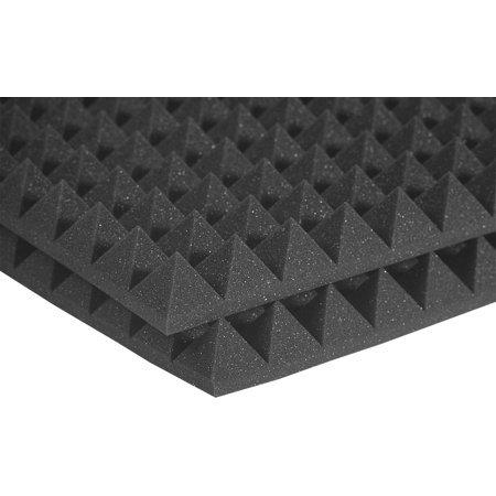 Auralex Acoustics - Studiofoam Pyramid Acoustic Panels - 2 Pack, Charcoal 2 x 2
