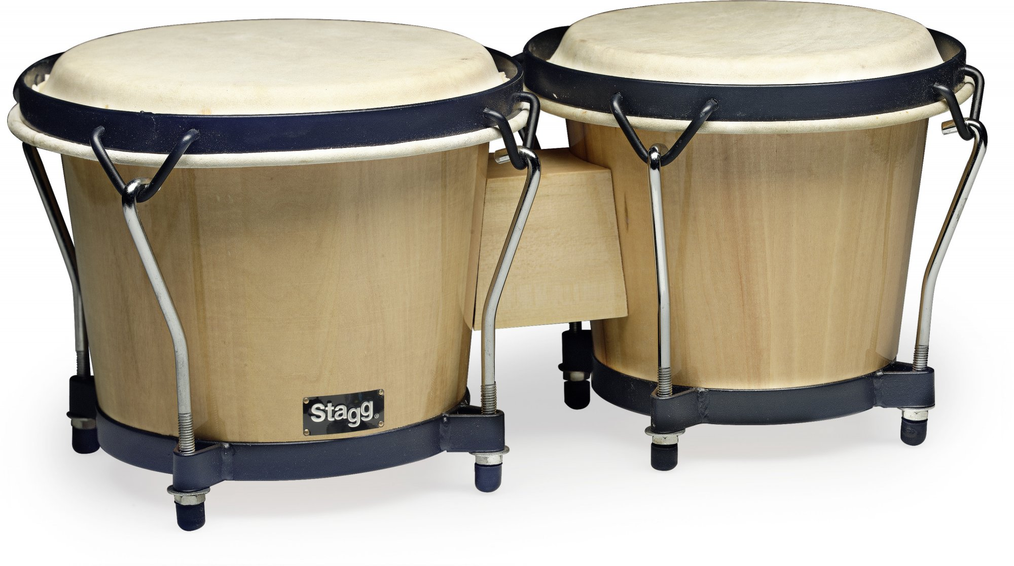 Stagg 6 & 7 Traditional Wooden Bongo Set - Natural