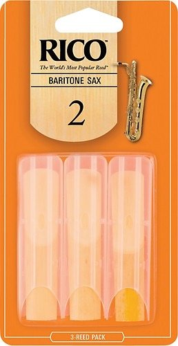 Rico Baritone Sax Reeds, Strength 2.0, 3-Pack