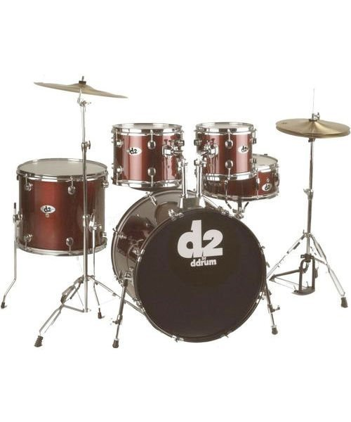 DDrum D2 - 5pc - Blood Red - Complete Kit