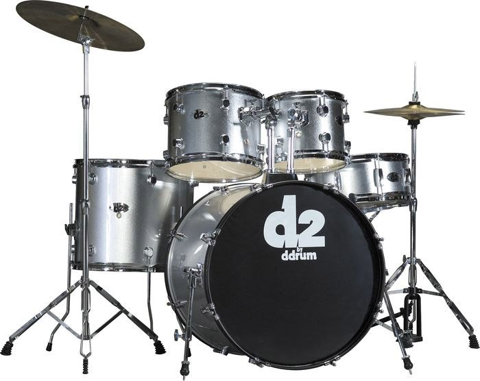 DDrum D2 - 5pc - Brush Silver - Complete Kit