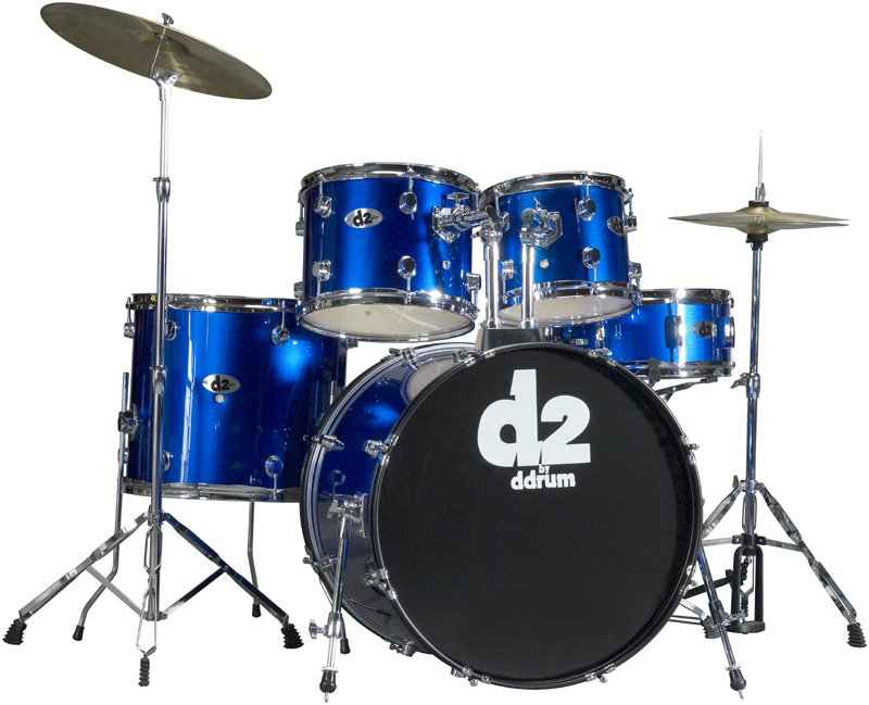 DDrum D2 - 5pc- Police Blue - Complete Kit